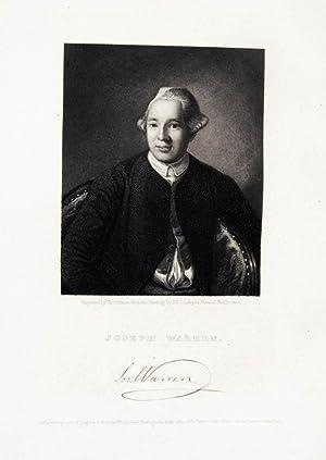 Stahlstich-Porträt von Illman nach Copley. Joseph Warren.: Warren, Joseph: