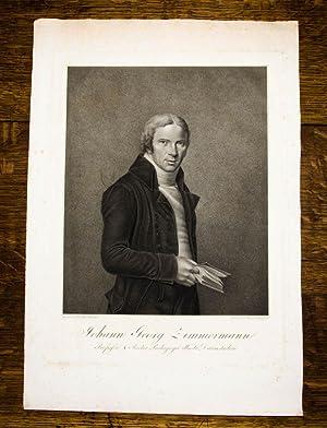 Kupferstich-Porträt von Felsing nach Hill. Johann Georg: Darmstadt, Giessen -