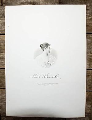 Stahlstich-Porträt von Weger nach einer Photographie. Paula Mancke.: Mancke, Paula: