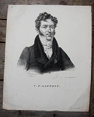 Lithographie-Porträt von Kneisel nach Brand. C. P.: Lafont, Charles Philippe: