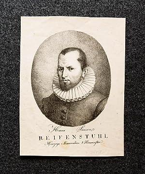 Lithographie-Porträt. Hans Simon Reifenstuhl Herzogs Maximilian I. Baumeister.: Reiffenstuel, Hans: