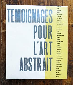 Temoignages pour l art abstrait 1952. Introduction: Arp, Calder, Delaunay,