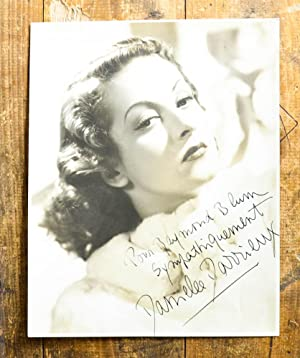 Signed original Photo by Ray Jones. Portrait of the young Danielle Darrieux (1917-2017) with a ma...