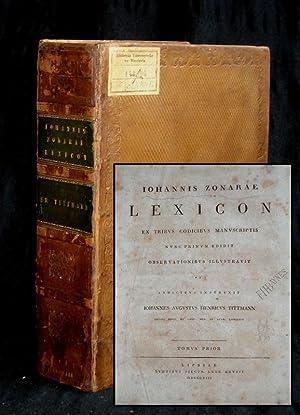 Lexicon. Ex tribus codicibus manuscriptis. Nunc primum: Zonaras, Johannes:
