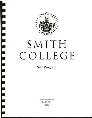 Smith College Sign Program.: Jon Roll & Associates.