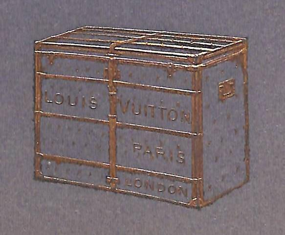 Louis Vuitton: Fabrique d'Articles de Voyage Tres chic (32) pp booklet featuring Louis Vuitton c1903 bespoke luggage!~