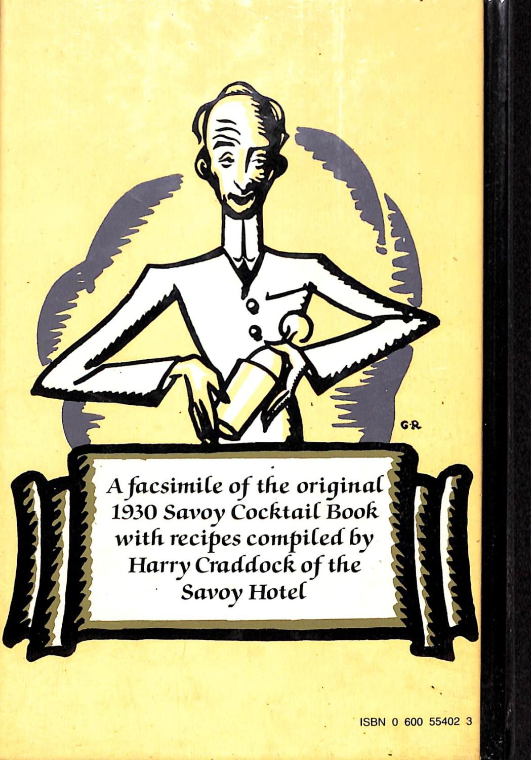Download PDF Savoy Cocktail Book Free Online