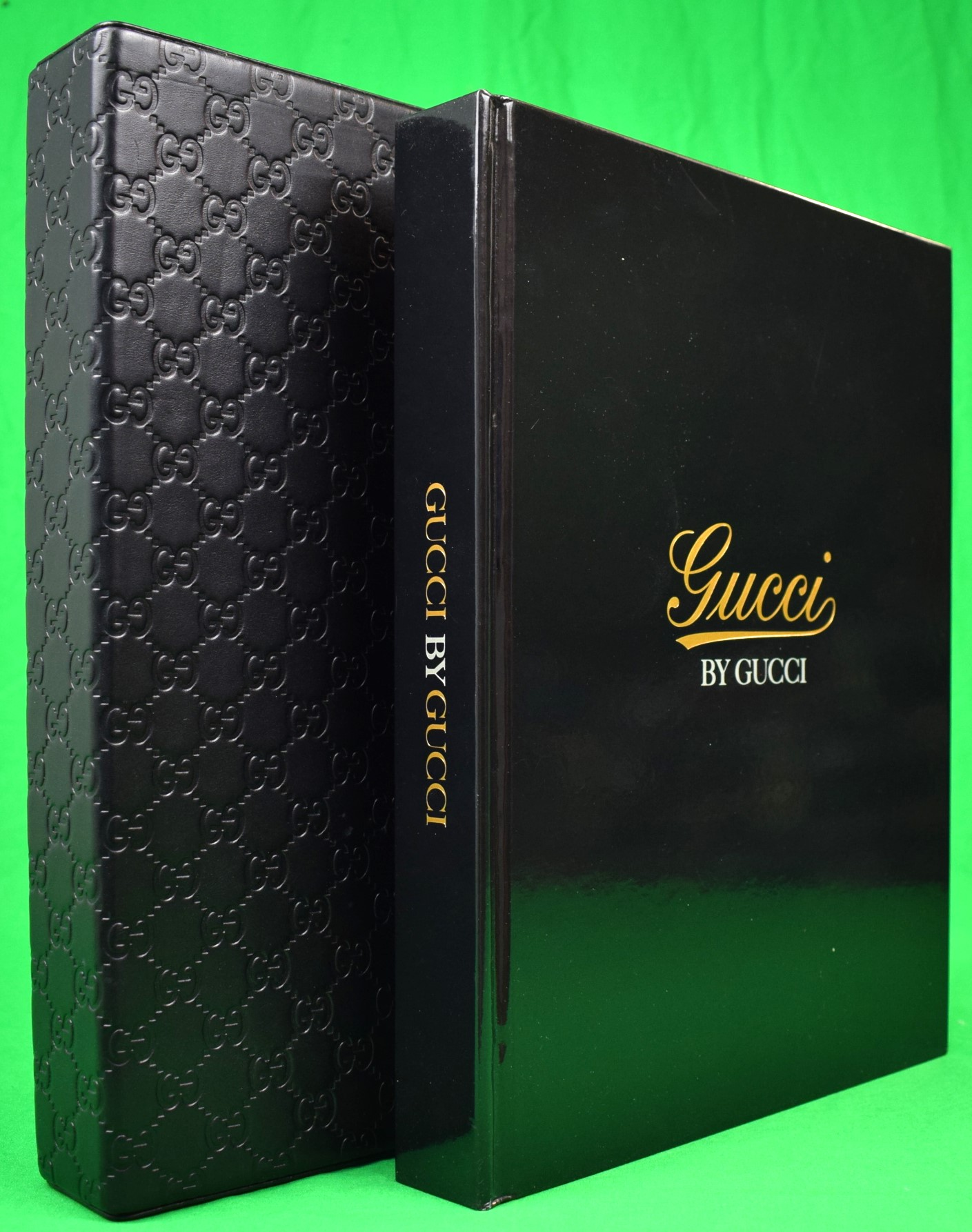 Gucci by Gucci Sarah Mower Glamorous deluxe edition ensconced in Gucciisma quilted leather slipcase & tobacco chamois cloth envelope housing a massive (439) pp volume on the cou