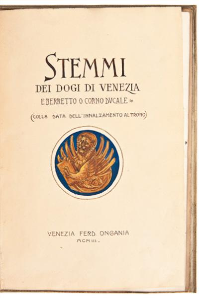 Stemmi Dei Dogi Di Venezia: illustrator 'unknown'