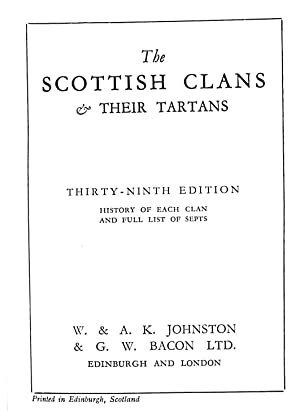 The Scottish Clans & Their Tartans