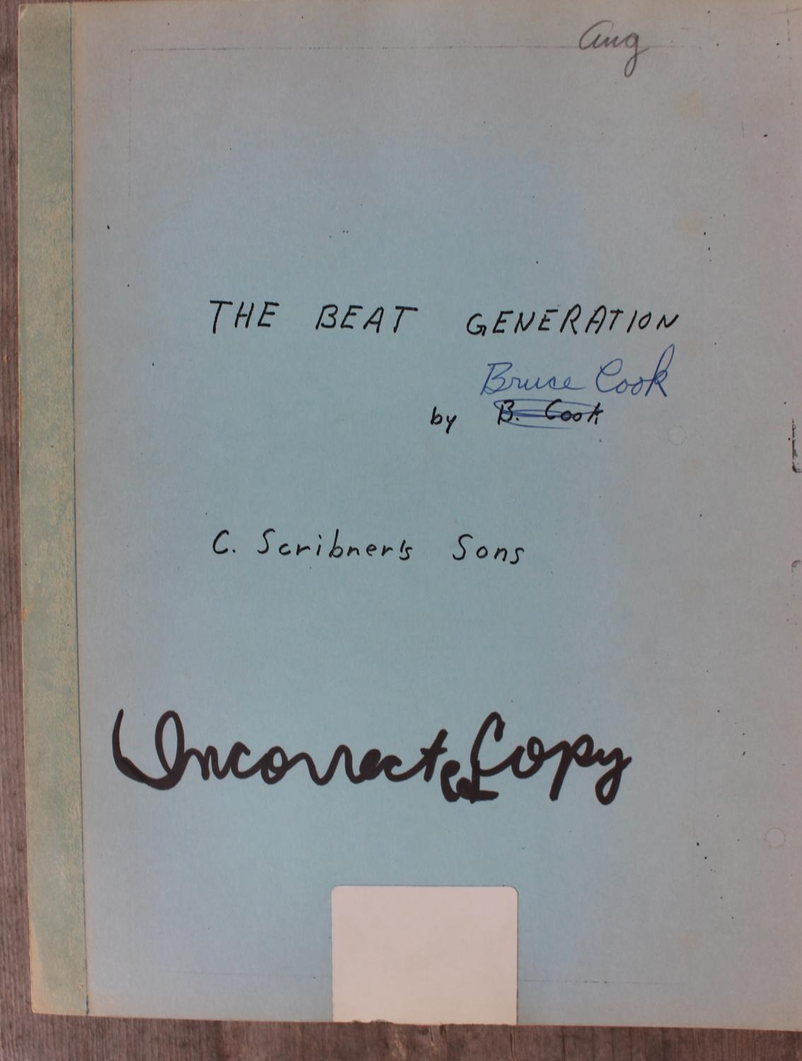 The Beat Generation Bruce Cook