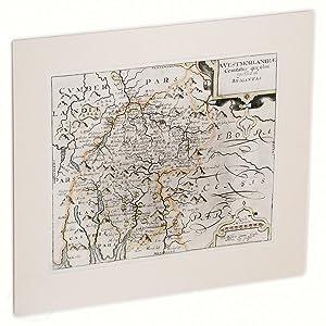 Original Antiquarian map of Westmorland by Saxton and Kip: 'Westmorlandiae Comitatus Qui Olim ...