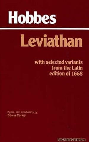 Leviathan 9780872201774: Thomas Hobbes, E.