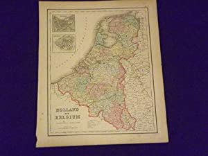 Colton's Map of Holland and Belgium.: Colton, J.H