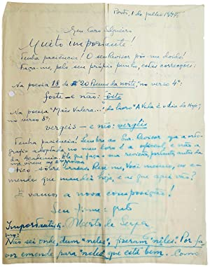 Fifty-eight autograph letters (on 64 leaves) and: SERPA, Alberto de.