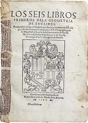 Los seis libros primeros dela geometria de: EUCLID.