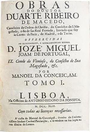 Obras do Doutor Duarte Ribeiro de Macedo: MACEDO, Duarte Ribeiro