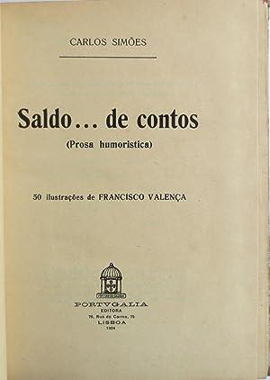 Saldo . de contos (Prosa humoristica).: SIMÕES, Carlos.