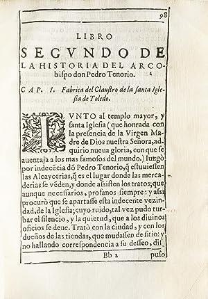 Historia de D. Pedro Tenorio Arcobispo de Toledo. Dos libros .: NARBONA, Eugenio.