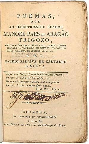 Poemas, que ao Illustrissimo Senhor Manoel Paes: SILVA, Ovidio Saraiva