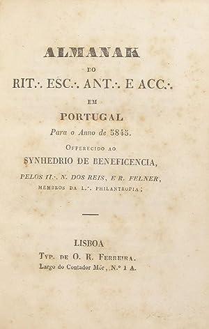 Almanak do Rit. Esc. Ant. e Acc.: REIS, [Antonio] N[unes]