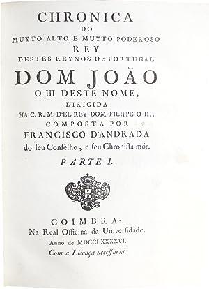 Chronica do muyto alto e muyto poderoso: ANDRADE, Francisco de.