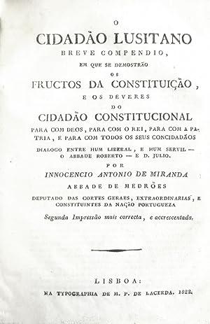 Manual de Deputados, ou advertencias aos Senhores: SOYÉ, Luís Raphael.