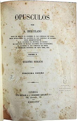 Opusculos.: HERCULANO [de Carvalho