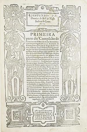 Compendio das Chronicas da Ordem de Nossa: COELHO, Fr. Simão.