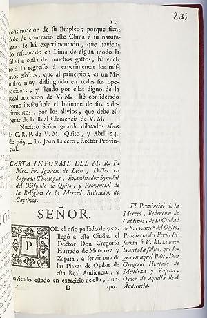Cartas escriptas a Su Magestad . a favor de la conducta, desinteres, zelo al real servicio, y ...