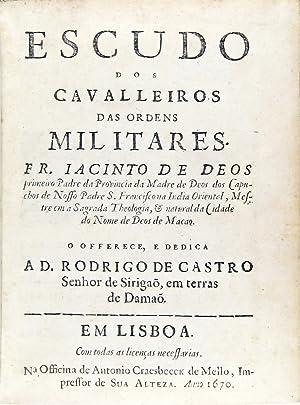 Escudo dos cavalleiros das ordens militares.: DEUS, Jacinto de,