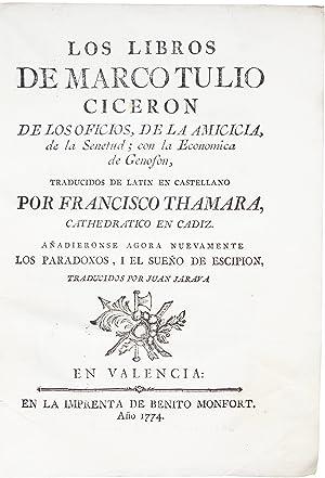 Los libros de Marco Tulio Ciceron de: CICERO, Marcus Tullius.