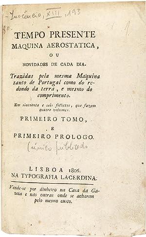 Tempo presente maquina aerostatica, ou novidades de: BRITO, José Sanches