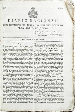 Diario Nacional. Com permissão da Junta do Supremo Governo Provisorio do Reino. Numbers 1-8 ...