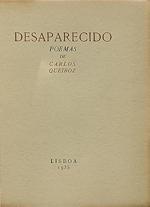 Desaparecido, poemas.: QUEIROZ, Carlos.