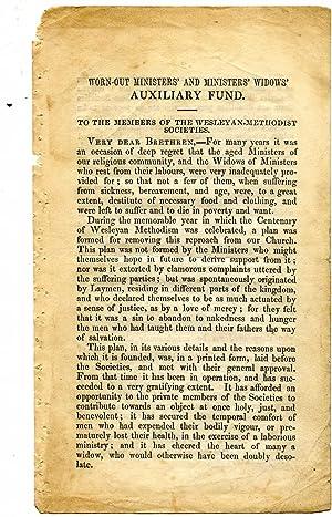 Printed handbill, addressed 'To the Members of the Wesleyan-Methodist Societies', headed ...