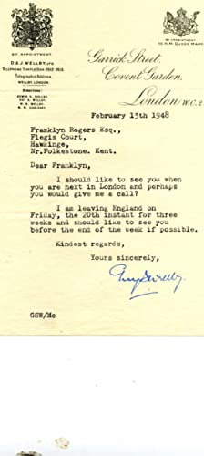 Ten Typed Letters Signed and eight Autograph: Guy Wellby, Prime