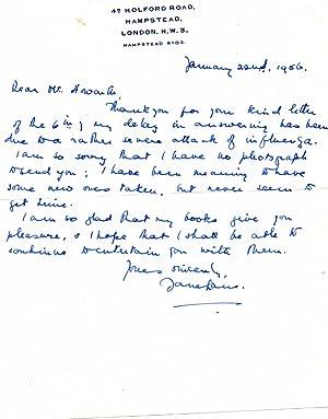 Autograph Letter Signed ('Jane Lane.') to 'Mr. Howarth'.: Jane Lane' [pen name ...
