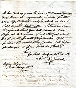 Autograph Letter Signed ('E: Cavan.') to an unnamed male recipient.: Elizabeth Lambart [...