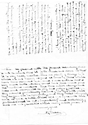 Three Autograph Letters Signed (all 'A. L.: Alfred Lys Baldry