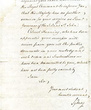 "Manuscript Document Signed ""Sydney"", contents secretarial.: Thomas Townsend, Viscount ..."
