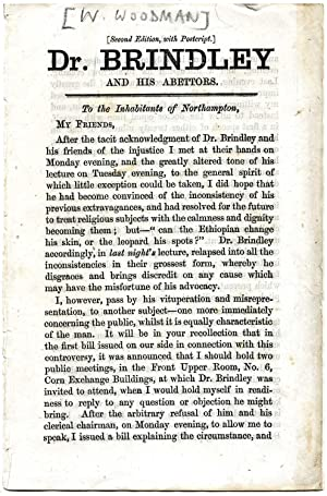 Dr. Brindley and his Abettors. To the Inhabitants of Northampton. [a defence of Swedenborgianism ...