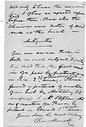 "Five Autograph Letters Signed ""Charles Monck"", landowner and architect, to William ..."