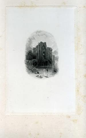 Proof engraving on India paper of ruined: Samuel Fisher (c.1802-1855),