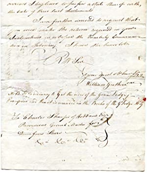 Secretarial Letter, signed 'William Guthrie' (Secretary of the Grand Lodge of Scotland), ...