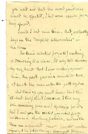Autograph Letter Signed ('H Belloc') from a: Hilaire Belloc (1870-1953)