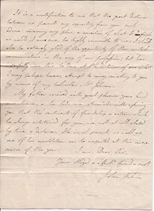 Autograph Letter Signed from the physician and writer John Aikin to the botanist Richard Pulteney.:...