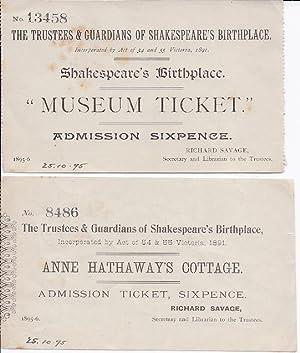 Victorian printed Shakespeare ephemera] Illustrated 'Description' of Shakespeare's ...