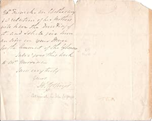 Autograph Letter Signed ('Jno Colpoys') from Admiral Sir John Colpoys, Governor of ...