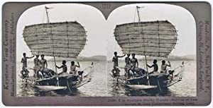 Stereoscope card: Natives of New Guinea in: New Guinea. Keystone